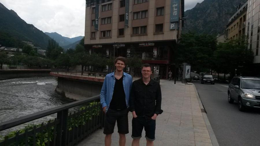 Alf Ronny og Tom Erling i Andorra